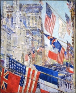 "Childe Hassam, ""Allies Day 1917"""