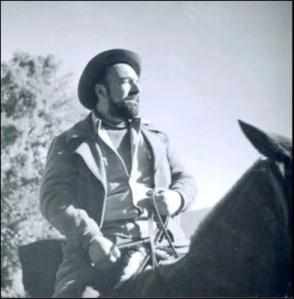 Pablo Neruda in 1949, prior to his escape from Chile.